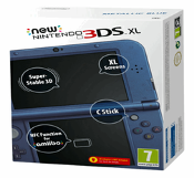 New Nintendo 3DS XL - Metallic Blue (Including Charger)