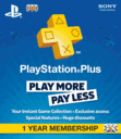Playstation Plus 1 Year Subscribtion