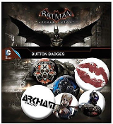 Batman Arkham Knight Pin Badge Pack 6 Pins