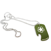 Call of Duty WW2 Dog Tag Bottle Opener